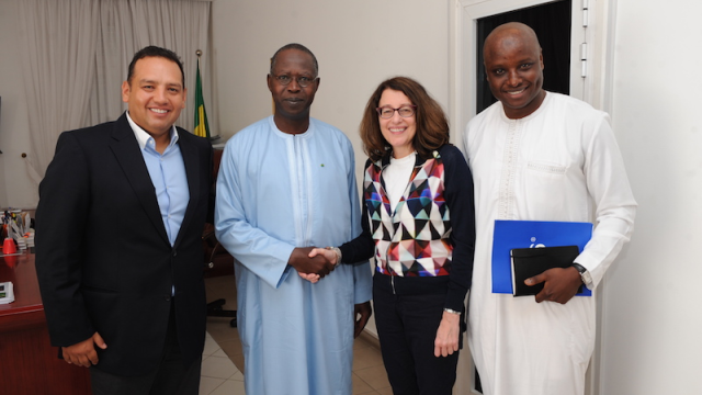 © (L-R) GM Diego Camberos, PM Mohamed Dionne, CEO Cynthia Gordon, Regulatory Manager Pape Ndiaye Ka