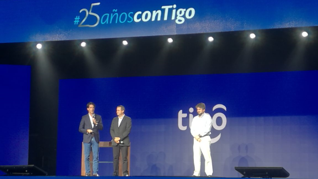 Millicom CEO Mauricio Ramos, EVP COO LatAm Esteban Iriarte and Paraguay GM Jose Perdomo lead TIGO's 25th anniversary celebrations