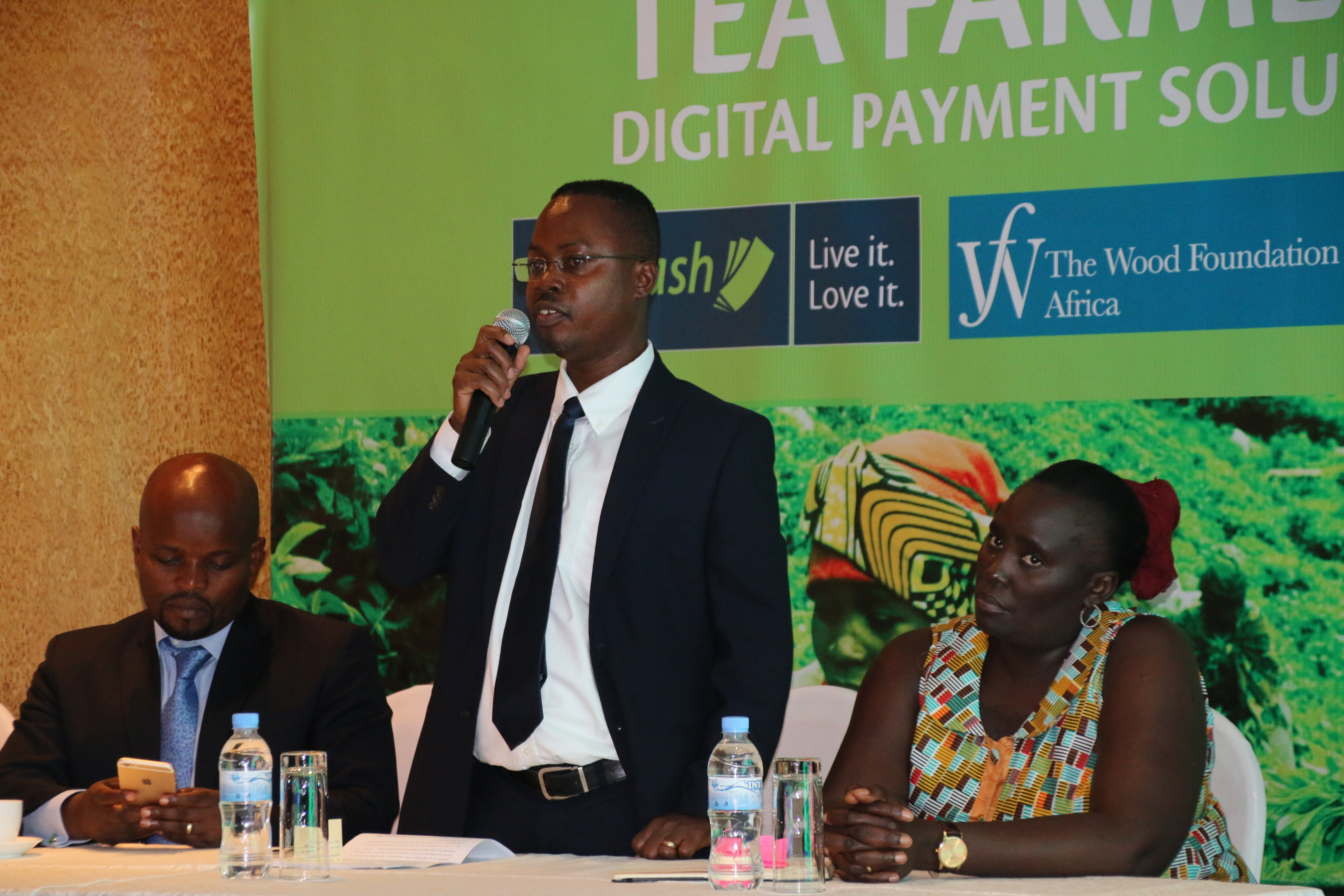 ©Tigo Rwanda CEO Philip Amoateng introduces the payment solution for agriculture- July 2016.