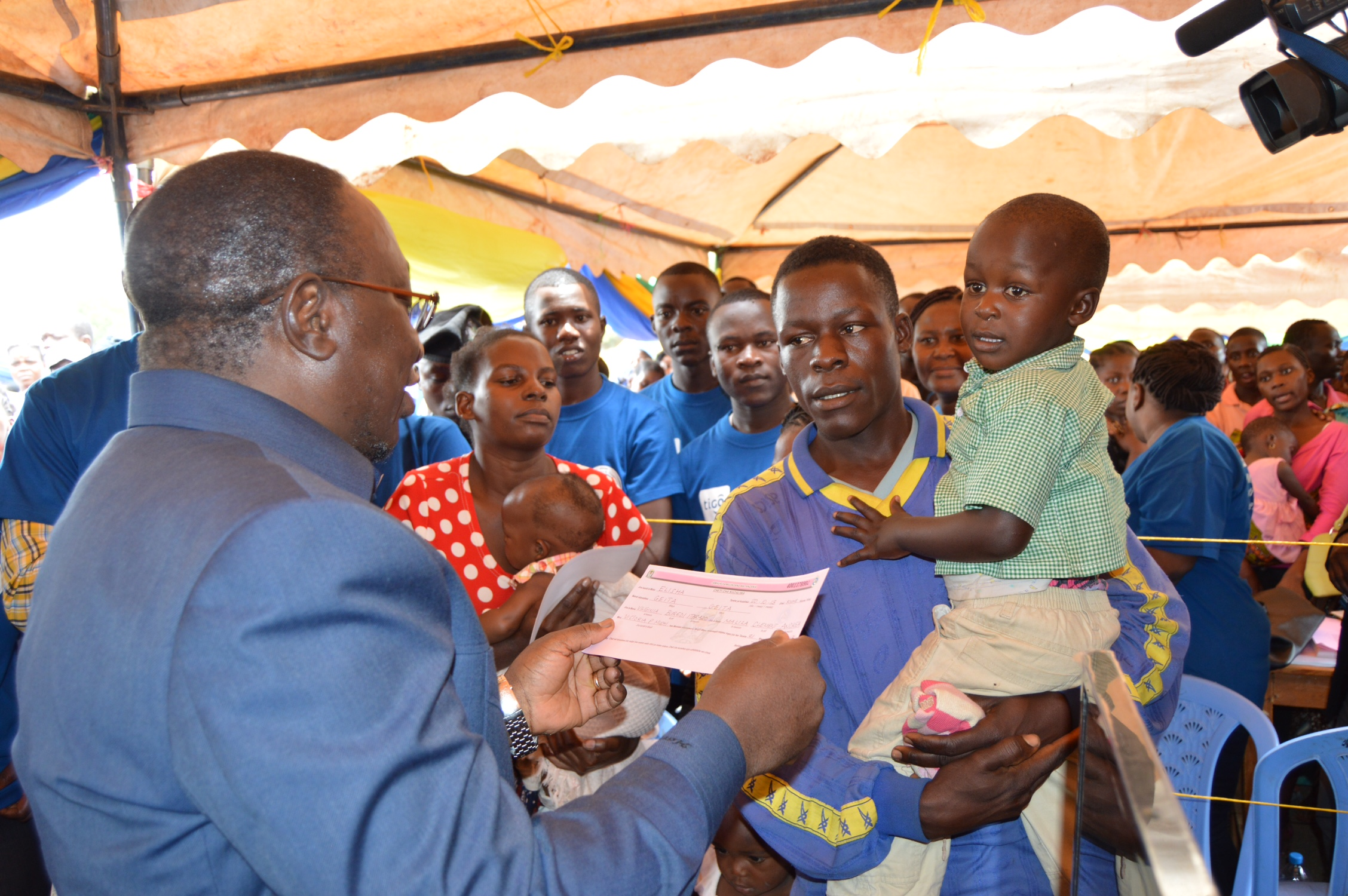 Tanzania's mobile registration program issues millions of birth certificates to children under the age of five each year
